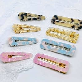 Resin Hair Clips