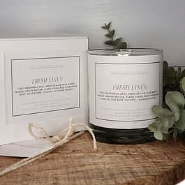 Fresh Linen Handpoured Candle
